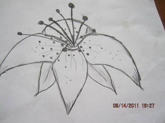 Random Flower sketch by metalstalkophile14