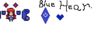 Blue Heart Sprite by JelliPuddi