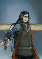 Feanor vs. Fingolfin by Maureval
