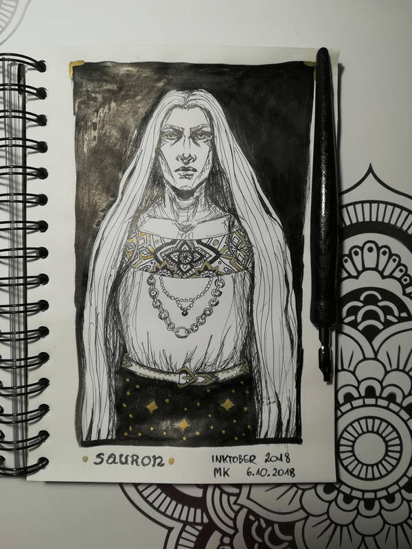 Inktober Sauron by Maureval