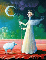 Angel and Sheep II by FrodoK