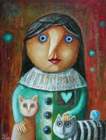 Gryzelda i kotki by FrodoK
