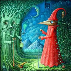 Woodman in Land of Ents by FrodoK