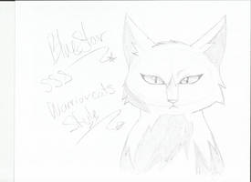 Bluestar sss warrior cats style by AshuriiWolf