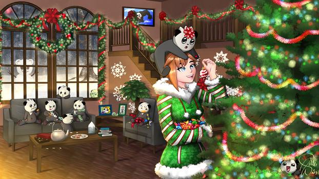 Bahroo Christmas fanart by AshuriiWolf