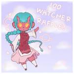 100 WATCHER ADOPT RAFFLE!!! OPEN! ONI GIRL ADOPT! by skribblepixie