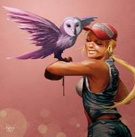 Jenn et la Chouette by RaphooN