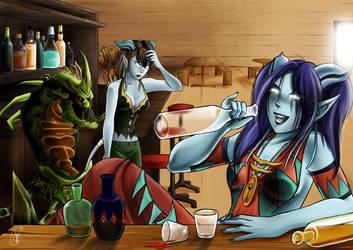 Comm - Drunken Draenei Colored by yapi