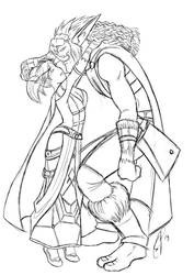 Blood Elves Be So Tiny Lineart by yapi