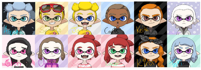 UnderOver Characters- In Splatoon! by ArtisticDreams20
