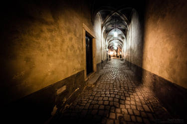 Medieval streets at night by sz1