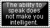 Ability to Speak by Sergeant-McFluffers