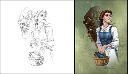 Belle Coloring by Rusty001