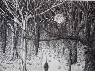 Spiders in the Woods by BrandonLoucksArt