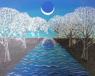 Winter Moon by BrandonLoucksArt