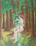 The Green Man and the Spring Goddess by BrandonLoucksArt