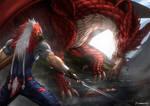 Gallant vs Dragon by KawaINDEX