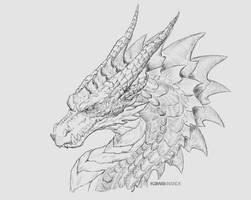 Dragon pencil by KawaINDEX