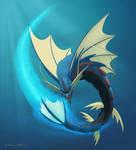 Mega Gyarados - Aqua Tail by Drak-Arts