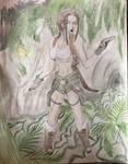 Lara and the lizard man by RedLuigi2887