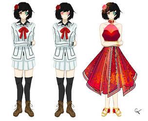 VAMPIRE KNIGHT OC:  Laura Connel by CrimsonVampiress