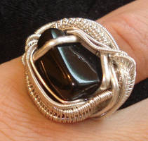 black tourmaline ring by nonomie