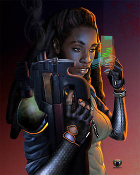 Afro_Future Soldier by Mshindo9