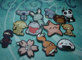 shrinky dink charms by melissah84