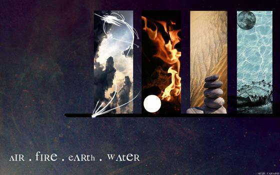 Earth Air Fire Water Wallpaper By Caraisil On Deviantart