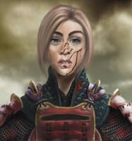Female Samurai by DeviantDel