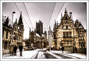 Snow In Ghent IV by OnayGencturk