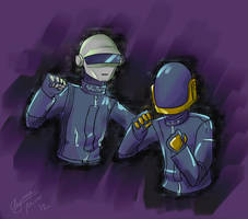Daft Punk: Noise by Maiden-Chynna