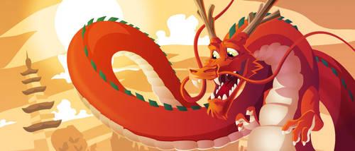 Red dragon by Snakieball