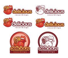 Delicious Recording logo declensions by Snakieball