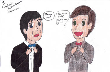 Doctor Who- Second Doctor meets Eleventh Doctor by DrawerAnonymous