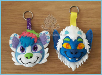 [Trade] Cain and Ozzy Keychains by HappyHoshi94