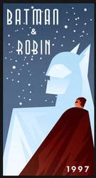 BATMAN AND ROBIN art deco by rodolforever