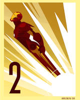 IRON MAN 2 art deco by rodolforever