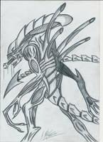 Xenomorph Warrior by mcwerdna