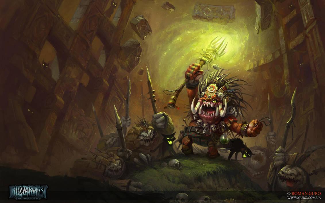 Blizzardfest 2014: BoganShaman. Wallpaper FullHD by Guro