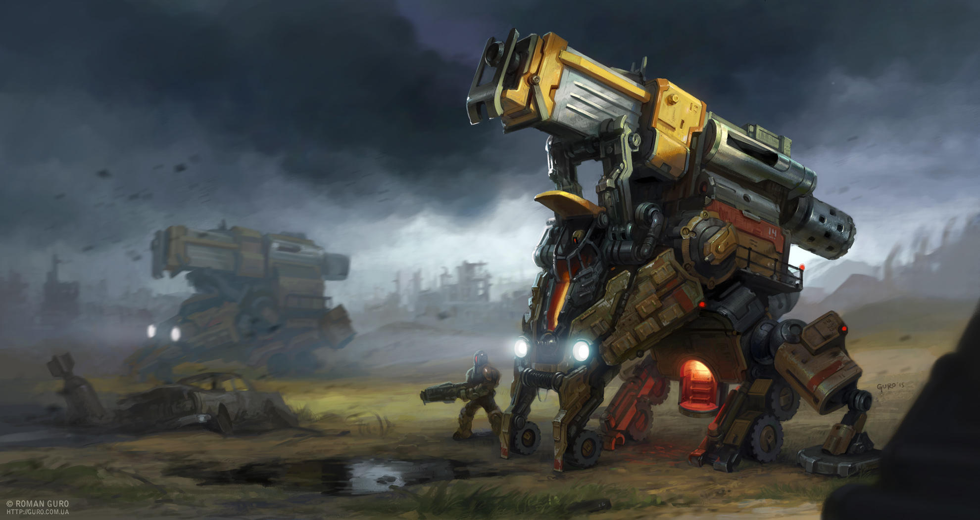 Mecha concept by Guro