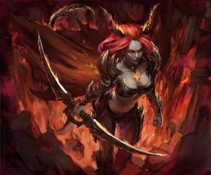 demoness by Llyncis