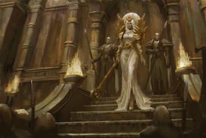 High priestess by Llyncis