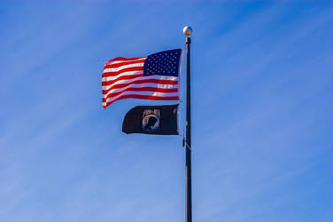 US and POW MIA Flags 06JAN14 by AnthonyMiller