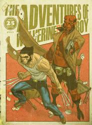 Wolverine and Hellboy Digest by MattKaufenberg