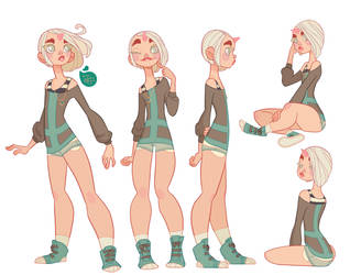 Character Design colored - Echo by MeoMai