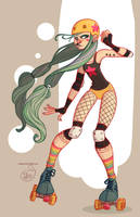 Character Design - Roller Derby Girl by MeoMai