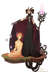 Commission - Hades and Persephone by MeoMai