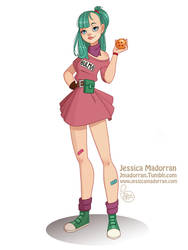 Character Design Challenge - Bulma by MeoMai