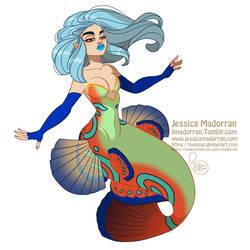 MerMay Day 17 - Mandarinfish Mermaid :) by MeoMai